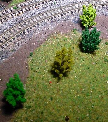 50 Büsche, 40 mm hoch, hellgrün, mittelgrün, dunkelgrün, dunkelgelbgrün 8