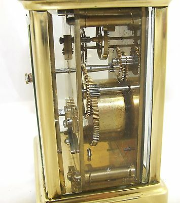Antique Brass & Bevelled Glass Carriage Clock JAYS 142 & 144 OXFORD ST. W  (46) 11