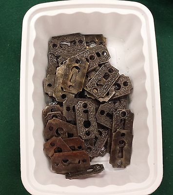 DECOCRATIVE VICTORIAN STYLE KEY HOLE COVERS  CAST IRON  up to 12 available