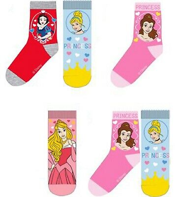 6 x Pairs of Girl's Character Socks  U.K. Shoe Sizes 6 - 2.5 (Roughly 1-8 Yrs) 3