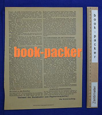 Original Flugblatt aus dem Arbeitskampf im graphischen Gewerbe Berlin 1923 [#9] 2