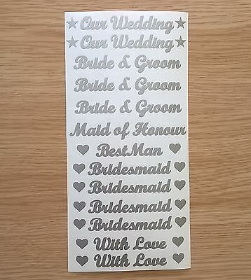 1 of 6 our wedding bride groom words vinyl stickers letters colour or etch for glasses