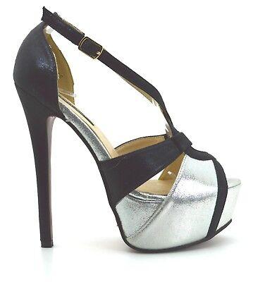 0858bad1ca14ac ... scarpe donna DECOLTè decollete tacco alto 15 colore metallizzo Mary  Jane plateau 3