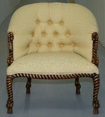 Rope Twist Napoleon Iii Style Suite Seating Armchair & Settee Chesterfield Sofa 9