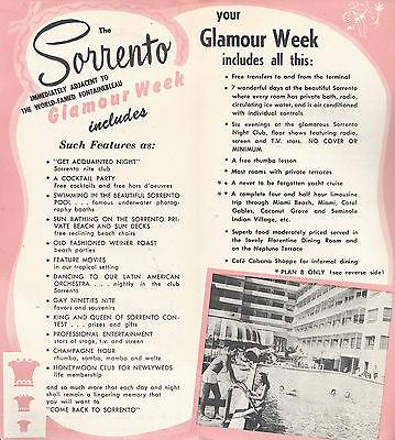 THE SORRENTO HOTEL Miami Beach Florida Vintage Travel Brochure