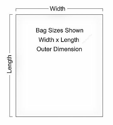 """12x15"""" Clear Poly Bags Lay-Flat Open Top End 1-Mil Case LDPE Plastic ml T-Shirt"""