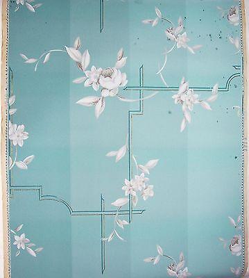 Uralte handkolorierte Tapete Rolle um 1900 dekorativ vintage shabby chic ! (nr.1 2