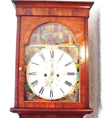 Beautiful Scottish 19th Century Flame Mahogany 8 Day Longcase Clock 5