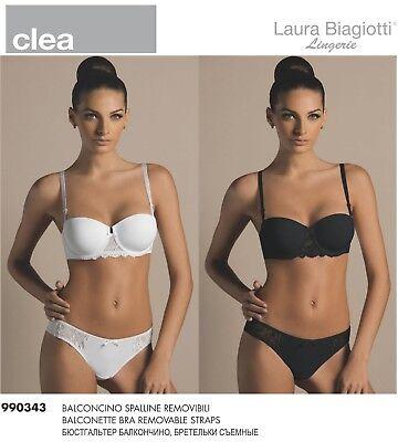 Reggiseno Laura Biagiotti Mod Clea Bla90343S Balconcino In Microfibra E Pizzo