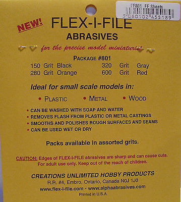 Albion Alloys 801 - Flex-i-File #801 Assorted Wet & Dry Abrasive Sheets 100 x 75