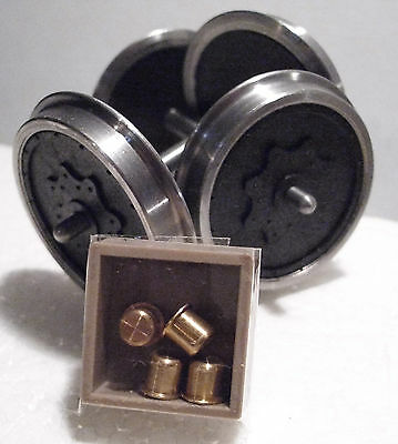 Slaters S9118 1 x Pair Gauge 1 Std Mansell Coach Wheels & Brass Bearings Kit T48