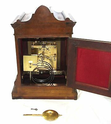 Winterhalder W & H Antique Mahogany TING TANG Bracket Mantel Clock CLEAN SERVICE 11