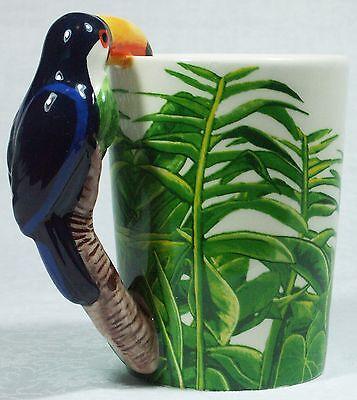 Ceramic Mug TOUCAN Bird in Rain Forest 9319844520058 RAINFTOUM Gift Box 4