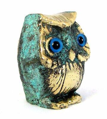 Owl Symbol Of Athena Goddess Of Wisdom Ancient Greek Bronze Museum Replica 2