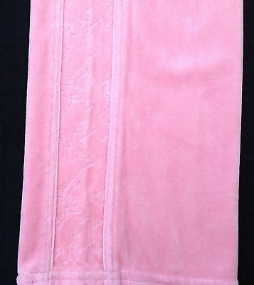 NWT Juicy Couture New Gen.Pink Velour Tracksuit Pants Scotty Dog Logo Girl Age 8 5