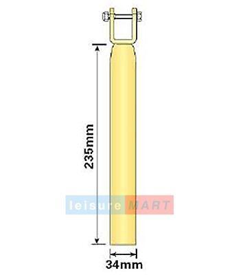Boat Trailer Ribbed Roller Bracket Stems 34mm Diameter Pair LMX1613 2