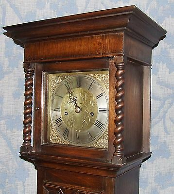 Antique Oak Grandmother / Miniature Grandfather Clock : Weight Driven Movement 4 • £2,750.00