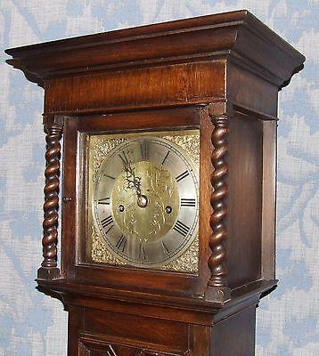 Antique Oak Grandmother / Miniature Grandfather Clock : Weight Driven Movement 4