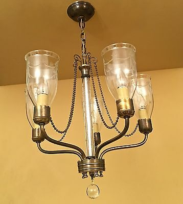 Vintage Lighting extraordinary 1940s chandelier by Lightolier 7