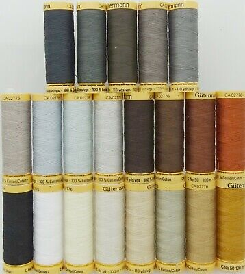 Gütermann Thread - 100m Reel 100% Cotton Machine + Hand Sewing Quilting 6