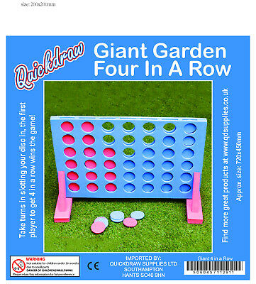 Giant Connect Four 4 In A Row Indoor Family Party Game Outdoor Garden Toy 101311 3