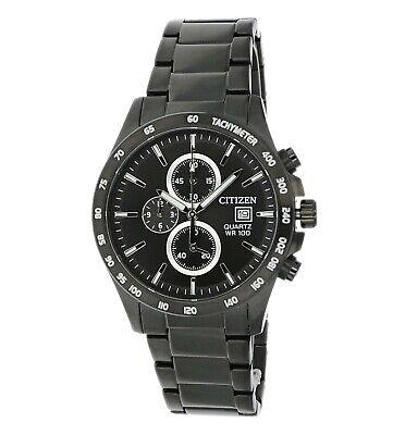 Citizen Men's Quartz Chronograph Black Multi Dial Bracelet 42mm Watch AN3645-51E 2