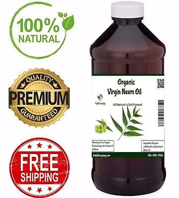 Neem Oil - PREMIUM QUALITY Organic Virgin 100% Pure Raw Unrefined COLD PRESSED 4