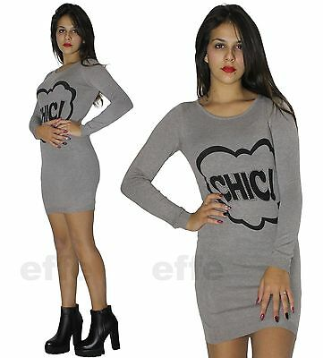 ... Maxipull miniabito donna vestito maxi maglia abito con stass pullover  nuovo 1506 2 39faebfdcdd