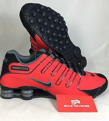 shoes for cheap how to buy presenting 9 NEW MEN'S Nike Shox NZ Running Shoes Red Black Gray 378341 ...