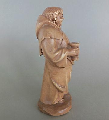 Mönch,Kellermeister ca. 17 cm hoch,Holz geschnitzt gebeizt, Sonderpreis Fleck !! 3