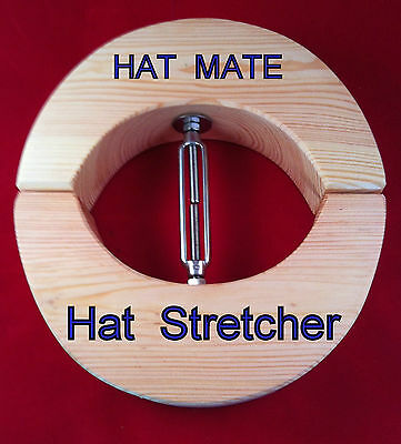 HAT STRETCHER western cowboy akubra williams 55cm-63cm PINE & STAINLESS STEE3