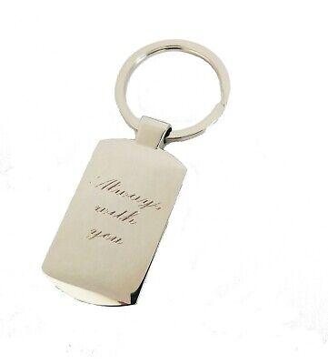 Personalised custom Printed / Engraved Metal Keyring Photo & text in Gift box 3