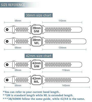 Cinturino Silicone Compatibile Per Apple Watch Nike Serie 1-2-3-4 38 40 42 44 Mm 4