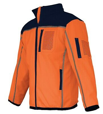 HI VIS Safety Jacket Soft Shell Windproof Work Wear Reflective bomber flying 3