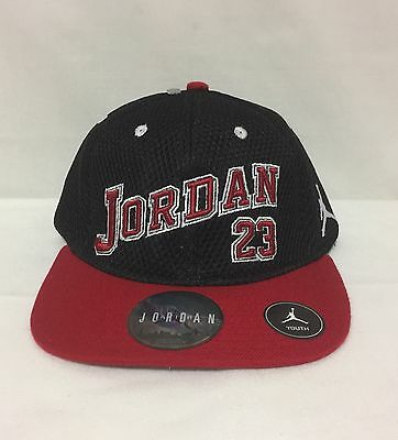 94006fec ... low price 2 of 5 nwt youth nike jordan jumpman 23 snap back cap black  red