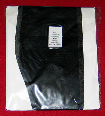 """Bas Stay-Up T 4-5  France """"Dior Jarretiere Seduction"""" Noir Nylon Voile Luxe Sexy 3"""
