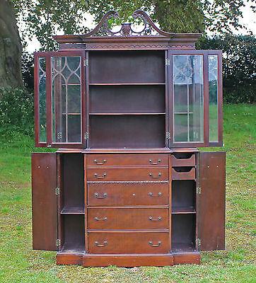 18th Century Style Mahogany Secretaire Bookcase Maddox Furniture Co Jamestown NY 2