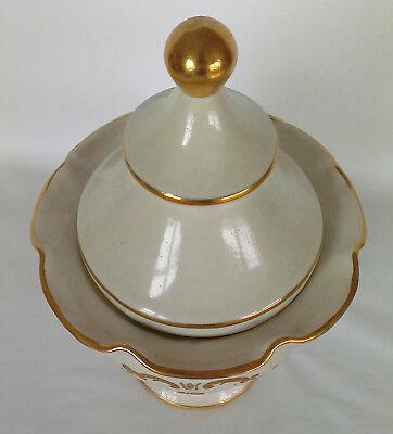 """Apotheker Gefäß """"Mjrra"""" Porzellan - schöne Form, antik, Goldauflage, apothecary 2"""