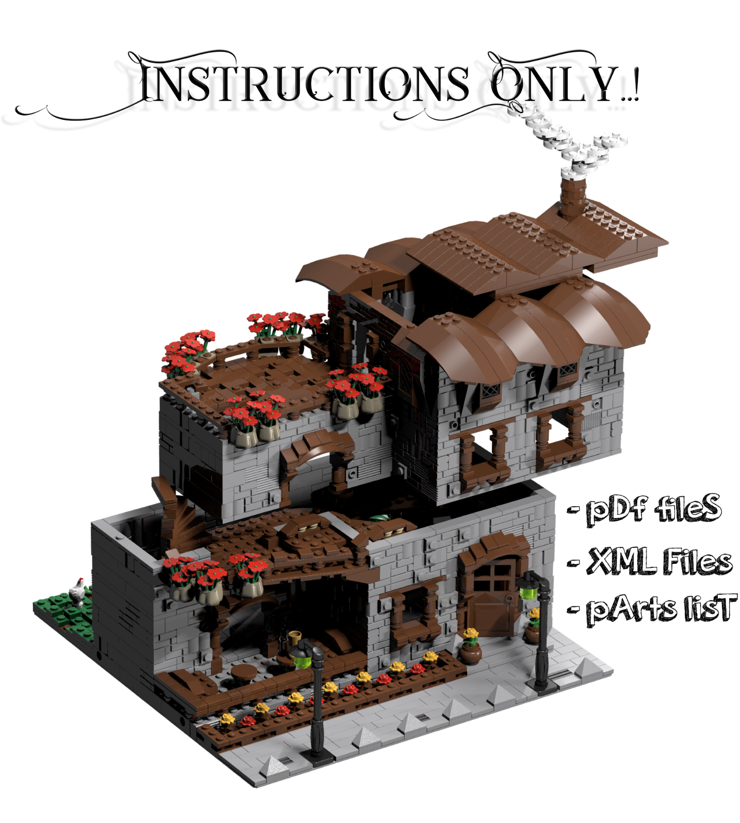 Lego Custom Modular Buildings Collection Instructions Only