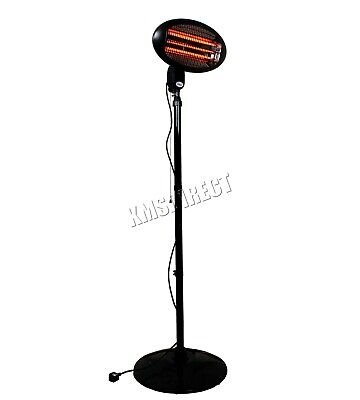 WestWood Standing Patio Heater – Outdoor Garden Electric Heating Quartz - 2KW 5