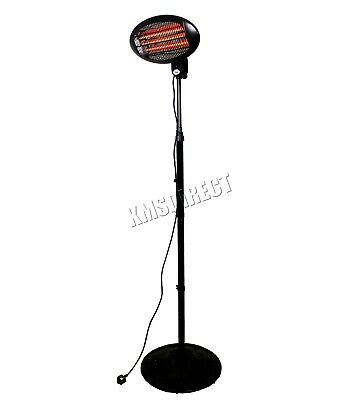 WestWood Standing Patio Heater – Outdoor Garden Electric Heating Quartz - 2KW 2