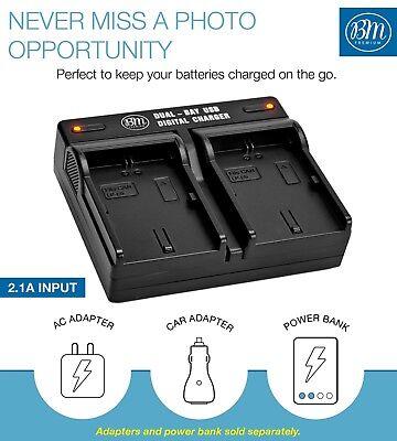 BM 2 LP-E6N Batteries & Dual Charger for Canon EOS-R 60D, 70D EOS 80D C700 XC15 3