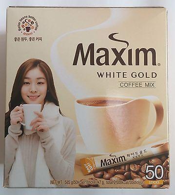 ... Korean Instant Coffee Mix Maxim White Gold 50 Sticks 5