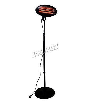 WestWood Standing Patio Heater – Outdoor Garden Electric Heating Quartz - 2KW 3