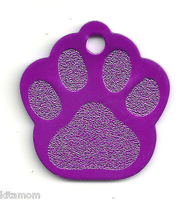 K-9 Dog Paw Animal Foot Print Pet ID Label Name Tag 9