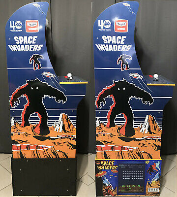 Arcade1up Cabinet Riser Graphics - Space Invaders Graphic Sticker Decal Set 5