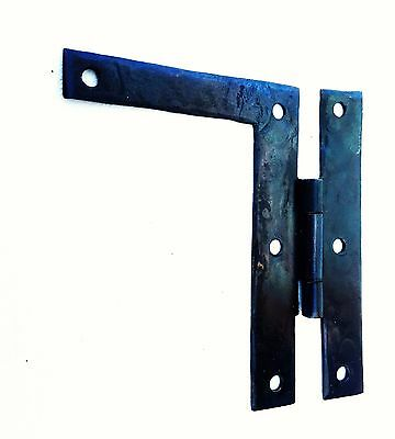 "PAIR 4"" Antique Hardware Vintage Colonial Metal ""L"" Butterfly Iron Cabinet Hinge"