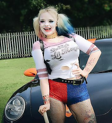 Harley Quinn Suicide Squad Fancy Dress (Official Top Tats) Halloween Tattoos H1