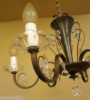 Vintage Lighting circa 1950 Mid Century quality chandelier 4