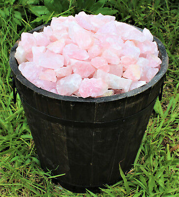 1/4 lb Bulk Lot Natural Rough Rose Quartz Crystals (Raw Reiki Love Healing 4 oz) 8